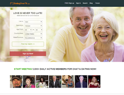 over 70 dating sites Senior singles know seniorpeoplemeetcom is the premier online dating destination for senior dating browse mature and single senior women and senior men for free, and find your soul mate today.