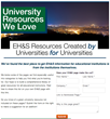 Home page for the new EHS University resource library