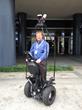 Velodyne's Wolfgang Juchmann pilots Mandli Segway equipped with LiDAR sensor