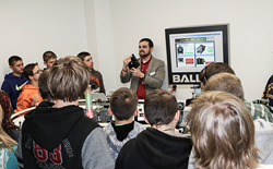Students learn how sensors are used in assembly processes.