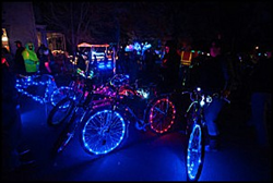 This colorful, nighttime bike safety event will feature fluorescent and glow-in-the-dark bicycle decorations and a Vendor Festival as well.