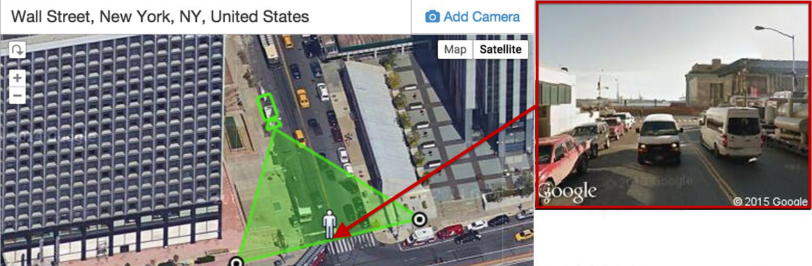 Ipvm introduces revolutionary google maps camera calculator for Cctv layout software