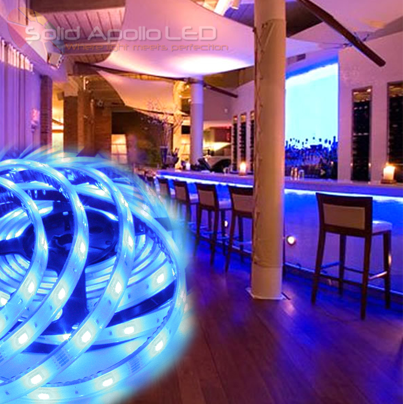Blue Waterproof LED Strip LightLow Profile Blue LED Strip Under Counter
