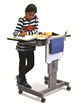 The Focus Desk's revolutionary FeatherTouch™ lift system allows students to easily control their own desk height.