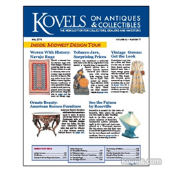 kovels, antiques, collectibles, navajo rugs, rococo furniture, roseville, depression glass, vintage evening gowns, tobacco jar