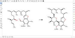 Chemical structure drawing