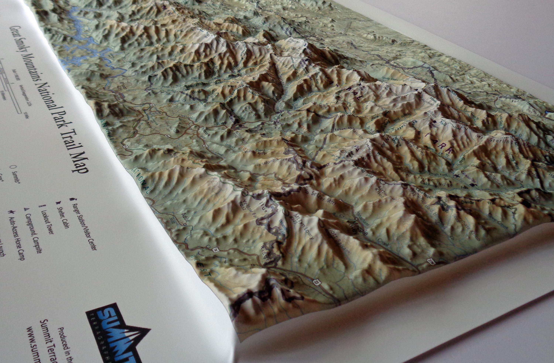 Great Smoky Mountains National Park In Miniature SummitMaps - Us mountain ranges map smokey mountain