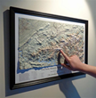 The Great Smoky Mountains National Park Trail Map in a black wood frame