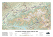 Unframed Great Smoky Mountains National Park 3D trail map