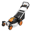 WORX 56V 19 in. Lawnmower with Caster Wheels