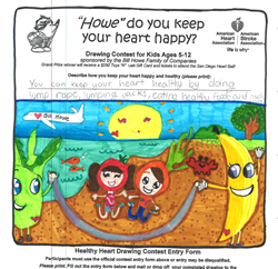grand prize winner in local san diego plumbing drawing contest