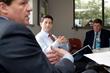 Congressman Paul Ryan listens as JX President & CEO, Eric Jorgensen explains transportation industry concerns.