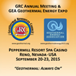 GRC Annual Meeting & GEA Geothermal Energy Expo Welcomes World's Largest Annual Geothermal Energy Gathering