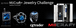 CGTrader.com and MiiCraft Launch 3D Print Jewelry Design Contest
