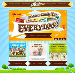 R.M. Palmer Company's 2015 Everyday Candy website