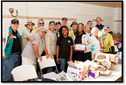 Image of DVNF and Veterans at a Stand Down Event
