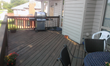 The 23-year old cedar deck was sagging and presenting a safety hazard, especially being elevated eight feet up.