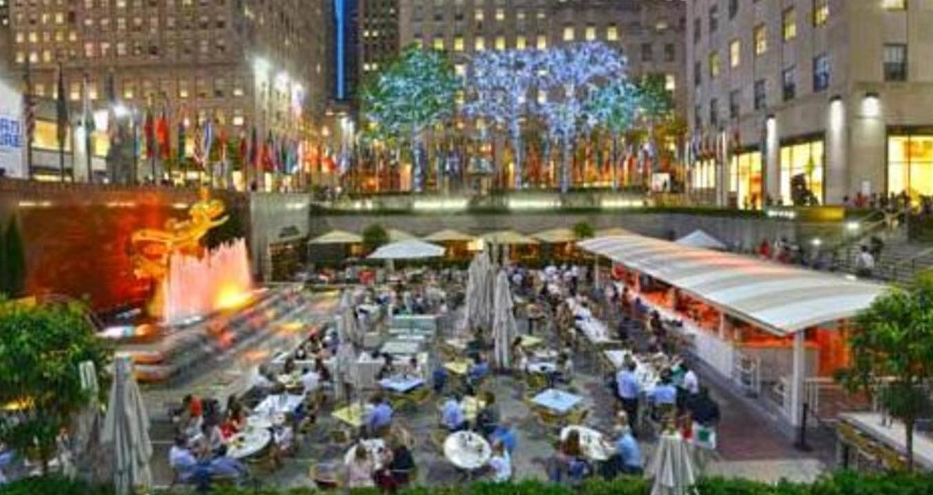Summer garden bar opens for the season as nyc s top outdoor dining destination for Restaurants near garden state plaza