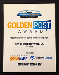 West Hollywood's 2015 Golden Post Award