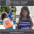 Sydney Paige® Increases Backpack Drive Success By Introducing A...