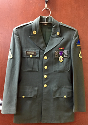 Military Jacket with Purple Heart Donated to an ATRS Recycler in South...