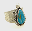 Sterling Silver And Roystom Turquoise Ring by Shane Hendren