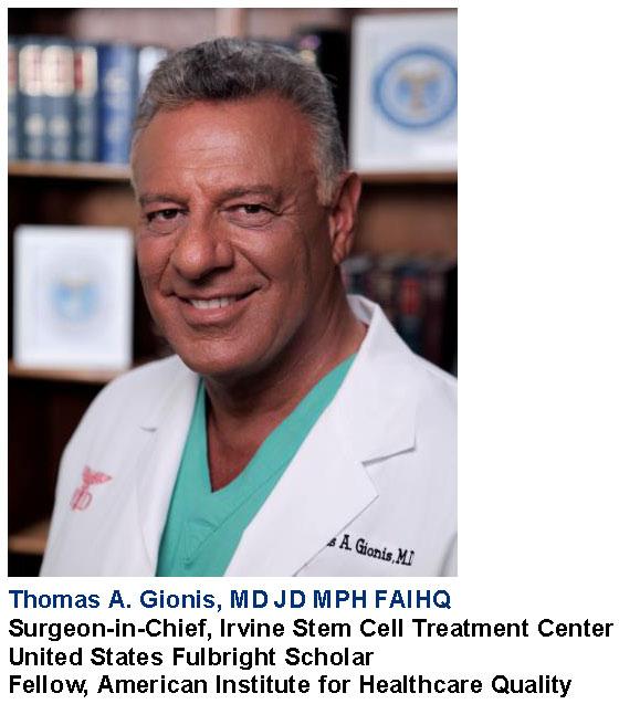 The Irvine Stem Cell Treatment Center Announces Adult Stem