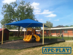 The Peabody play structure from APCPLAY chosen for Head Start's daycare playground