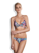 Meli Beach Swimwear Island Wrap Bikini Top and Bikini Bottom in Sea Cave Print