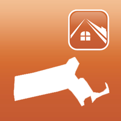 The app icon for the Massachusetts Real Estate Exam Prep app by Upward Mobility, one of 33 newly released Real Estate apps