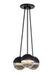 LBL Lighting's Sphere pendant can be hung alone or clustered in multi-ports to make three-, seven- and 11-pendant chandeliers.