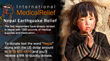 International Medical Relief Launches Global Relief Effort for Nepal Earthquake Victims by Gathering Supplies, Taking Donations and Sending 5 Medical Teams to Kathmandu.