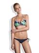 Meli Beach Swimwear JetSet Bikini Top in Tropical and Classic Side Tie Bottom in Navy