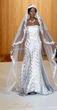 Queen Of The Brides silver bridal gown