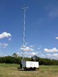 Cell on Wheels,  satellite communications trailer, pCom XL tactical trailer
