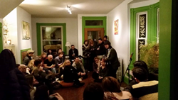 Oscar Albis Rodriguez house concert organized by Vector Marketing sales rep Lindsay Musser