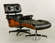 Charles and Ray Eames for Herman Miller chair (#670)and ottoman (#671)