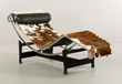 Le Corbusier Model LC4 chaise lounge in cowhide