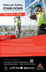 2015 National Safety Stand Down Poster