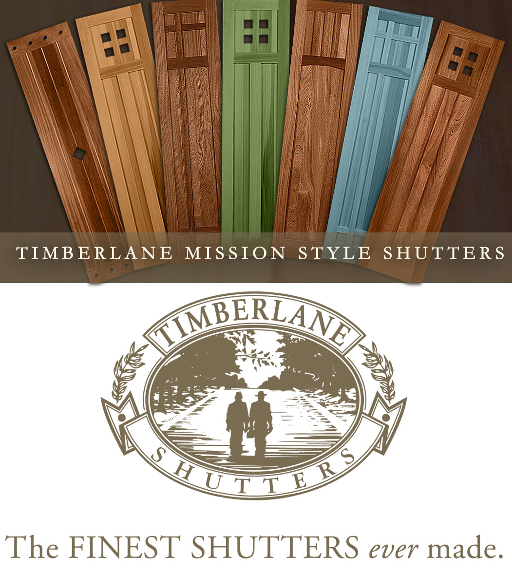 Timberlane adds new mission style exterior shutter for Spanish style interior shutters