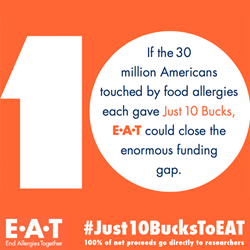 E•A•T is committed to finding a cure for food allergies