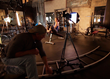 MOOVIT™ Motion Drive Unit Attached to a Cinerails Camera Dolly to Provide Smooth Dolly Moves While Filming for the MOOVIT™ Kickstrter Video