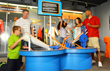Challenge friends to see which orange track is fastest at The Children's Museum of Indianapolis