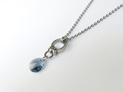Blue Frost Crystal Pendant as worn by Nina Dobrev (as Elena Gilbert) on The Vampire Diaries