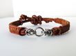 Alyce n Maille's Stainless Steel and Leather Bracelet