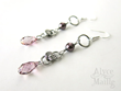 Alyce n Maille's Pink Crystal and Pearl Keepsake Earrings