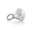 Homanz White Diamond Ring Handbag