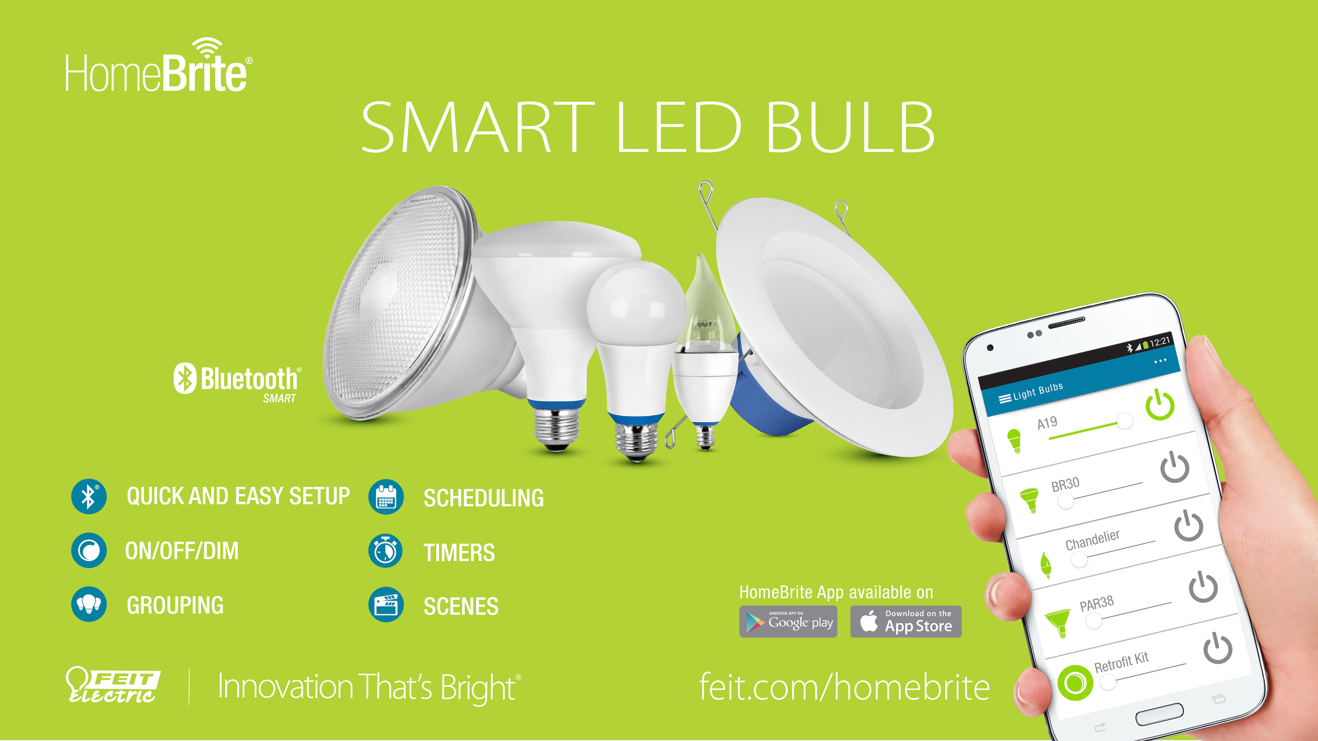 Feit Electric Proudly Introduces Homebrite A Bluetooth