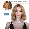 Premierlacewigs.com 2015 Oscars Beyonce New Bob Inspired Ombre Blonde Color Lace Front Wigs
