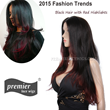 Premierlacewigs.com Celebrity Lace wigs Black hair with red highlights